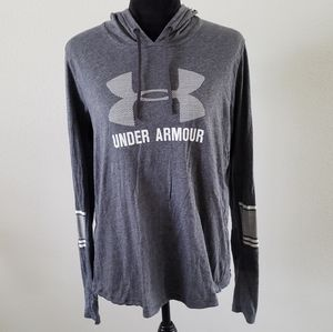 B2G1 Under Armour Logo Gray Hooded Pullover